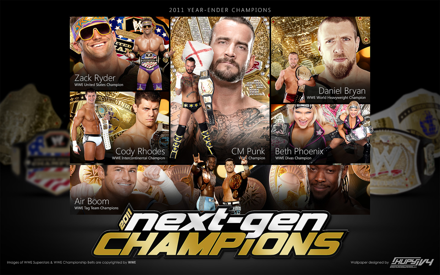New Kwws Year Ender 2011 Wwe Next Generation Champions Wallpaper