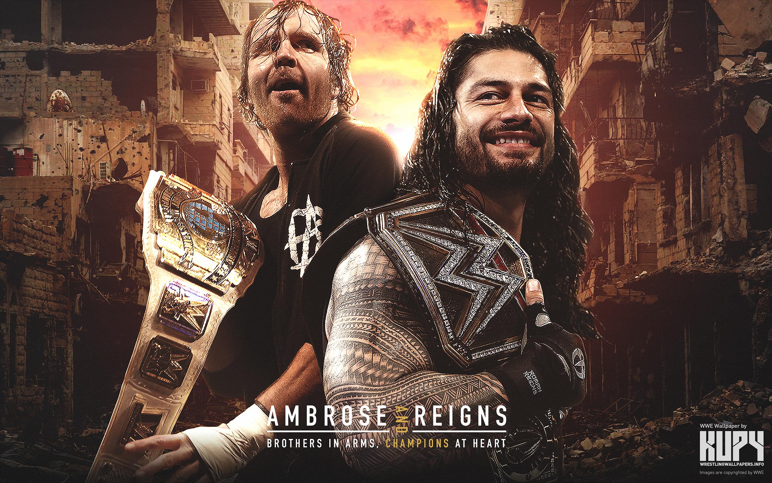 New Dean Ambrose Roman Reigns Champions Wallpaper Kupy