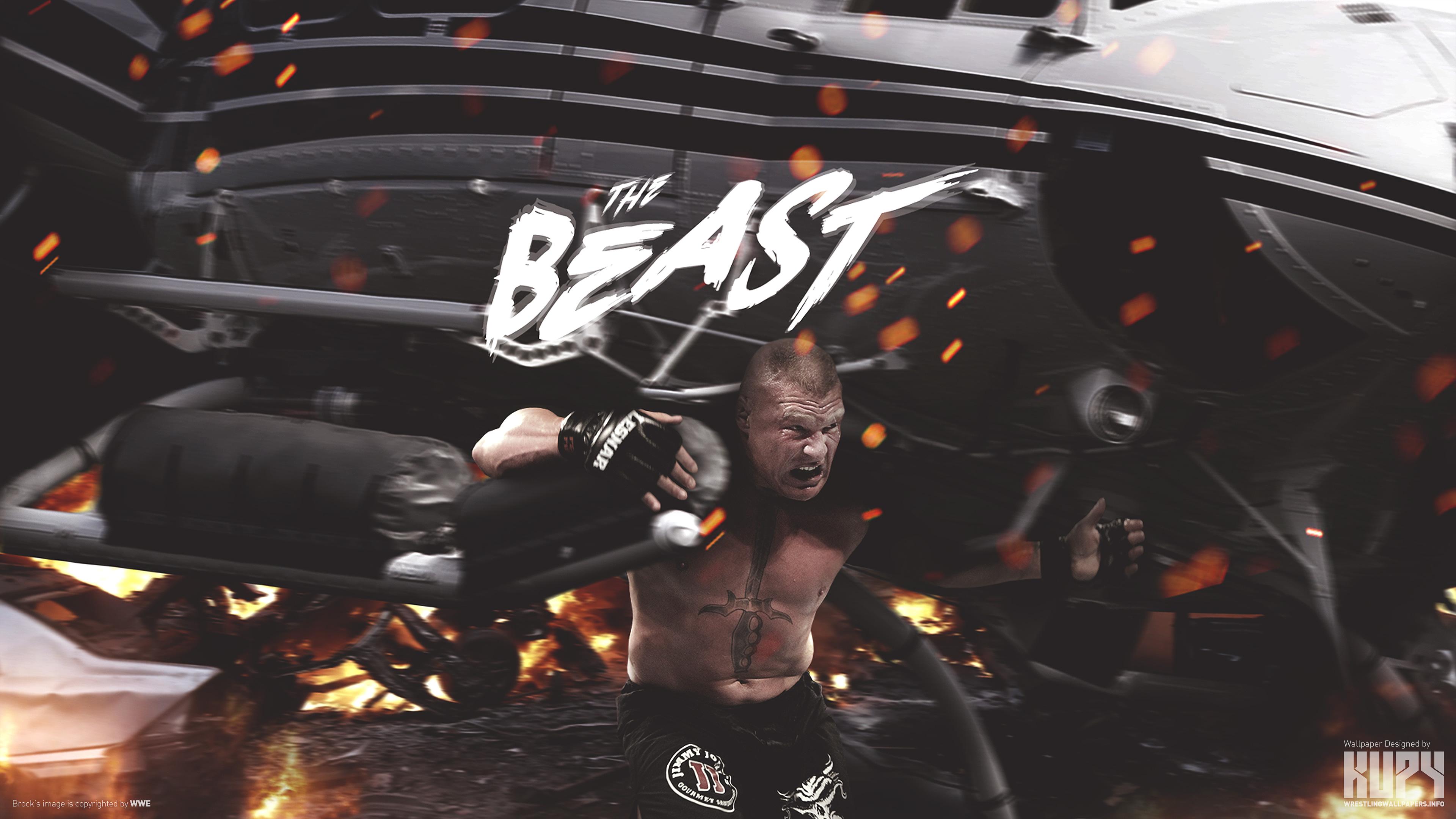Brock Lesnar F5 4k Wallpaper