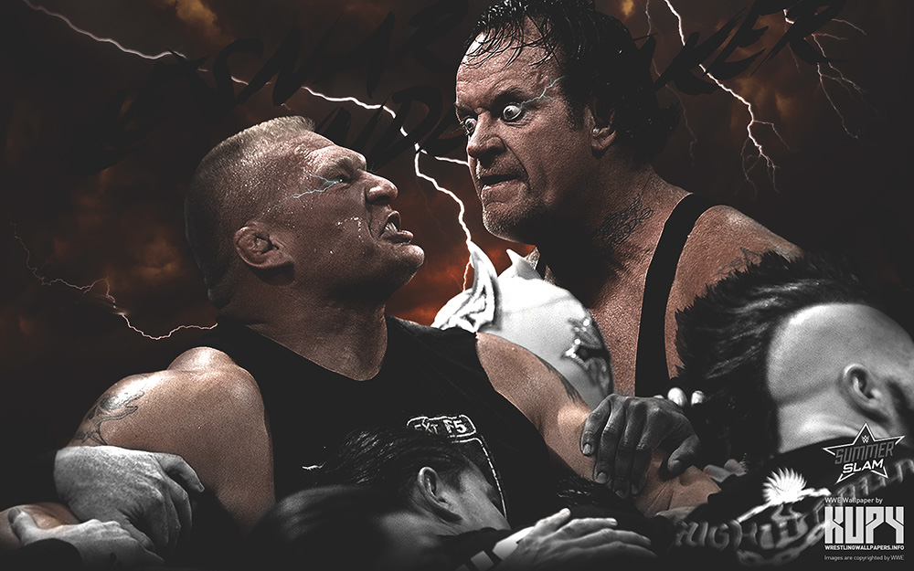 lesnar undertaker wallpaper