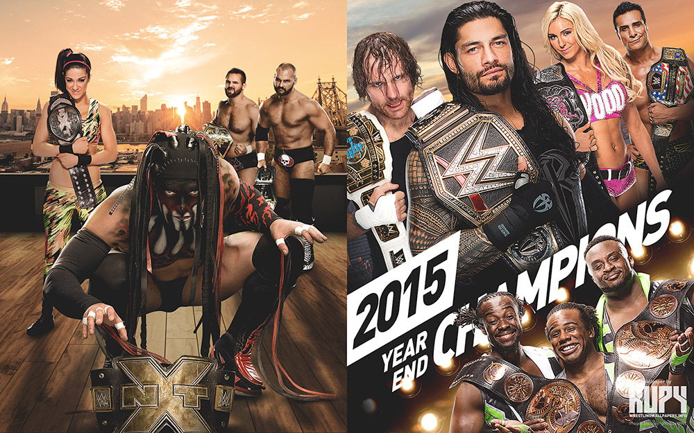wwe nxt champions wallpaper