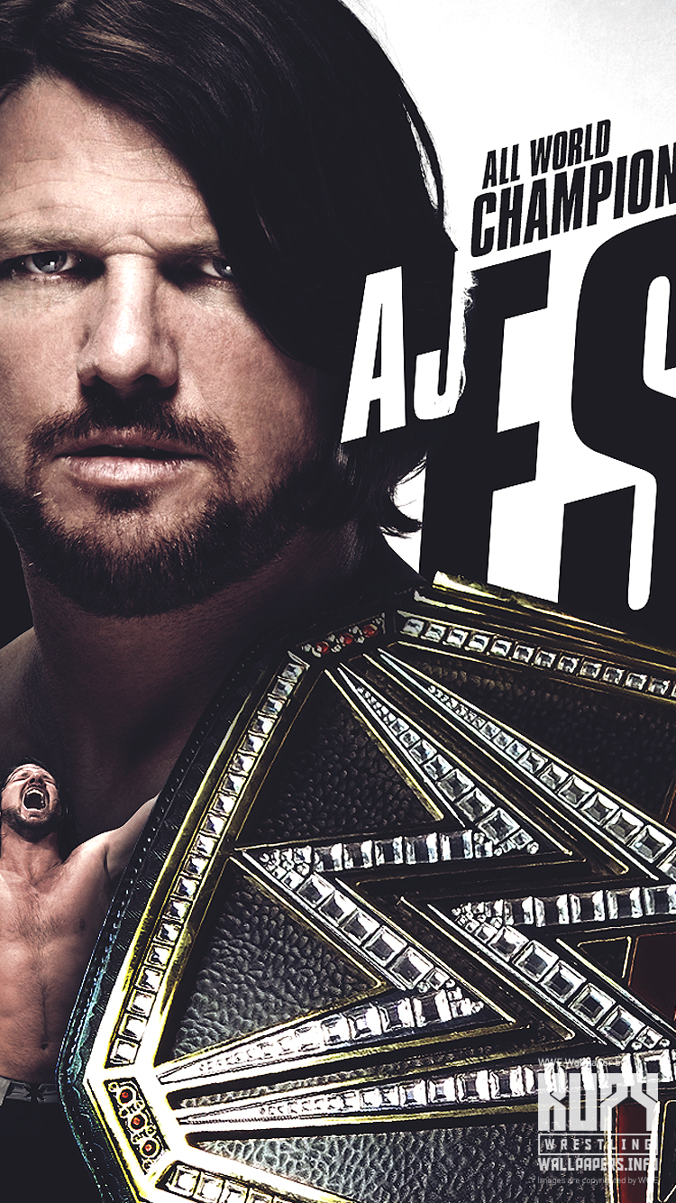 New Aj Styles Wwe World Champion Wallpaper Kupy Wrestling