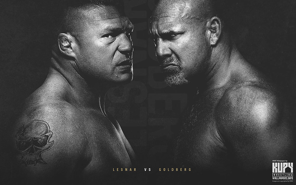 goldberg vs. lesnar wallpaper
