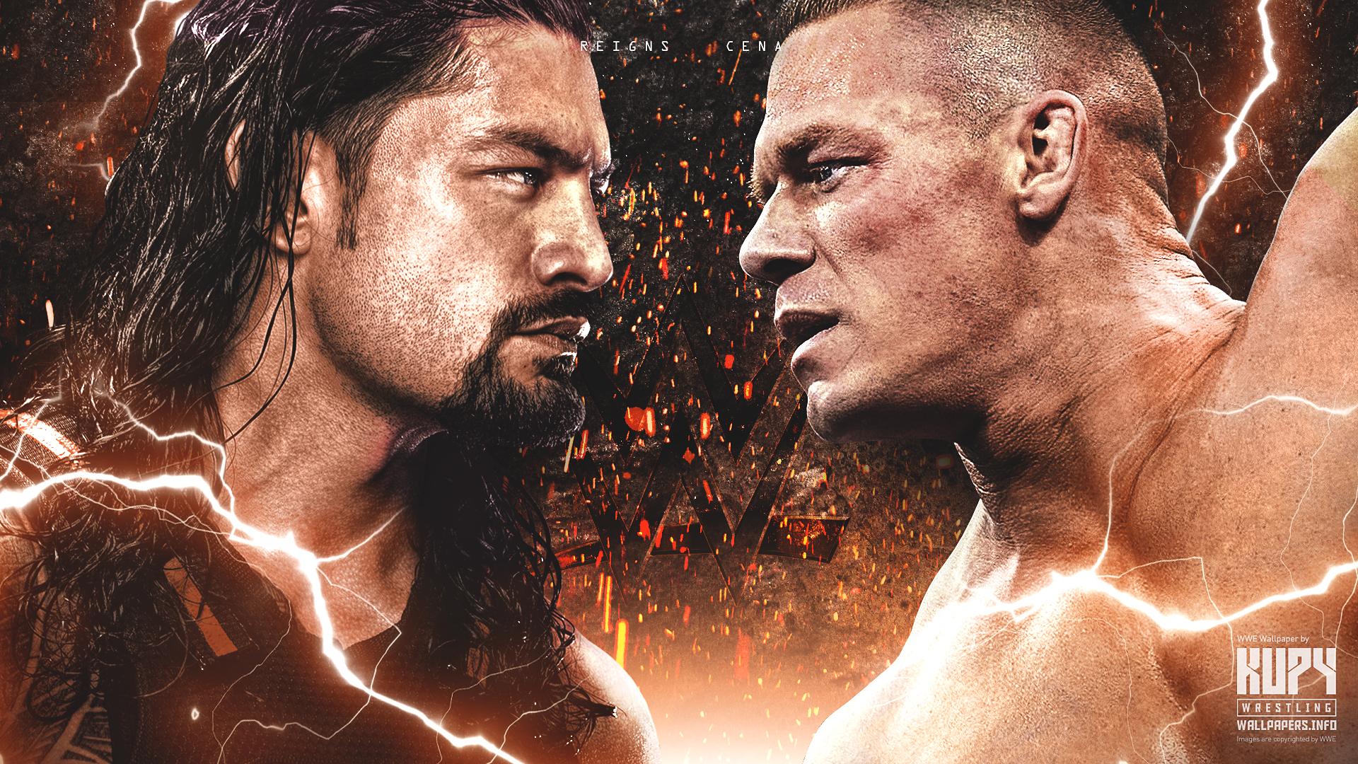 new roman reigns vs john cena wallpaper kupy wrestling
