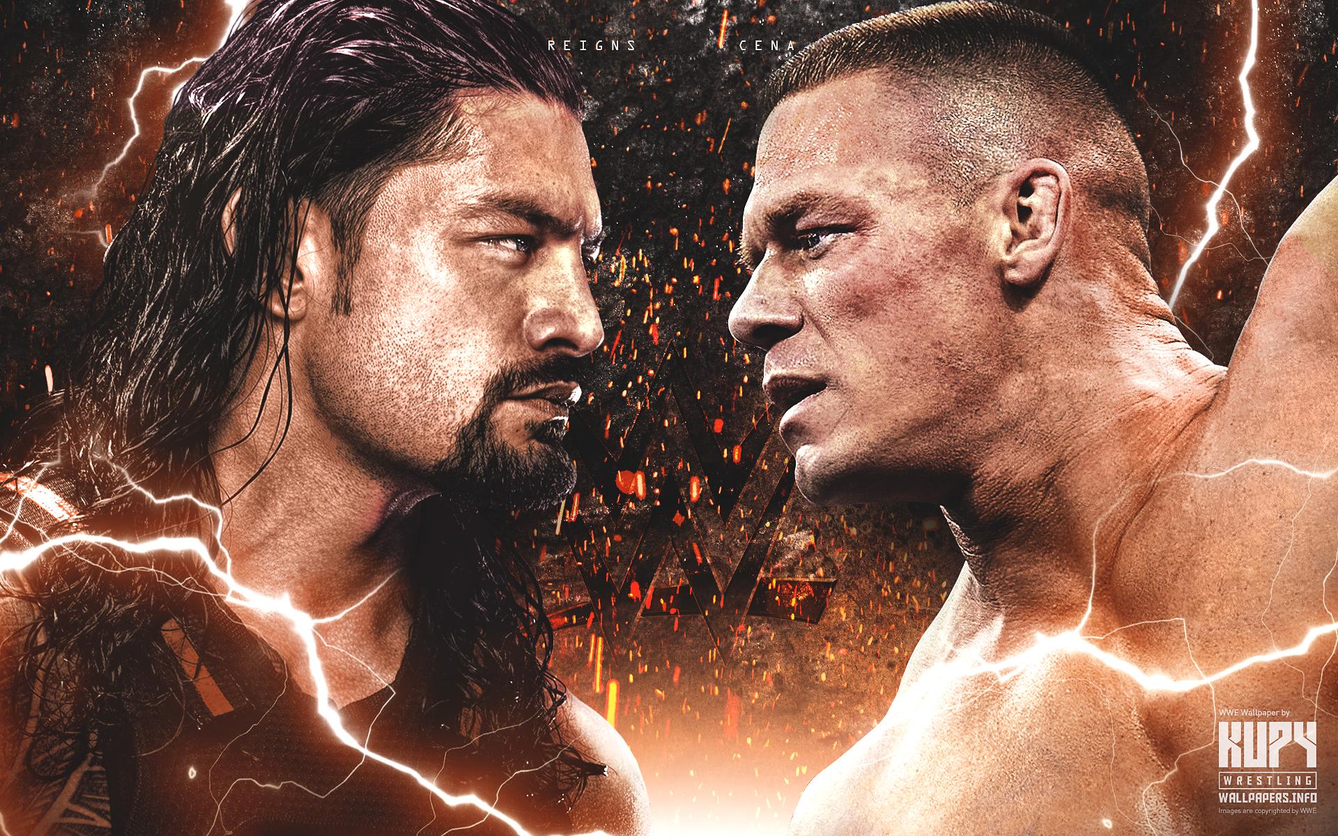 new roman reigns vs. john cena wallpaper! - kupy wrestling