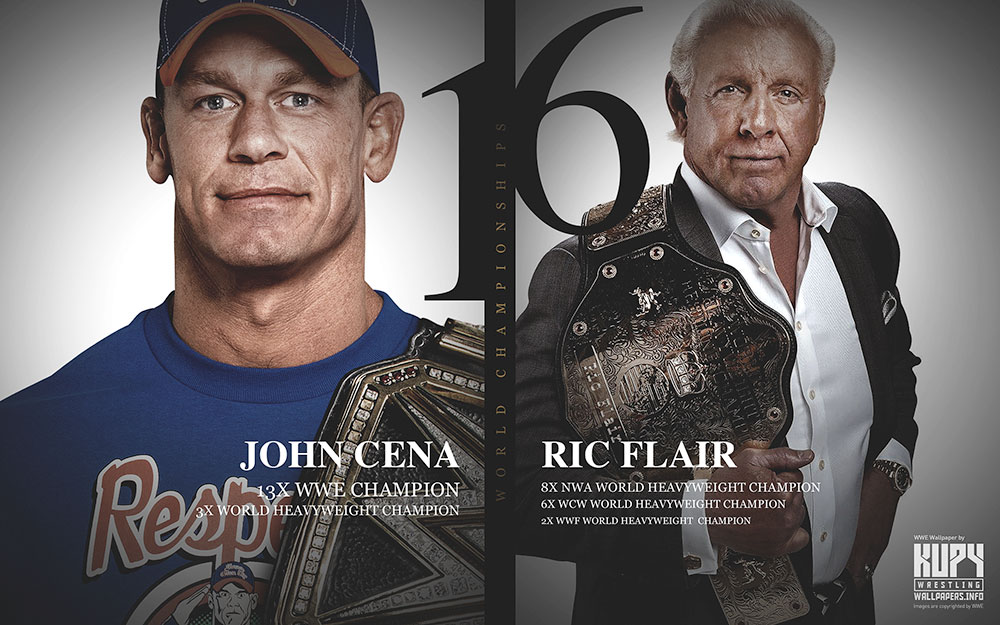Cena Wallpaper Ric Flair And John 16x World Champions