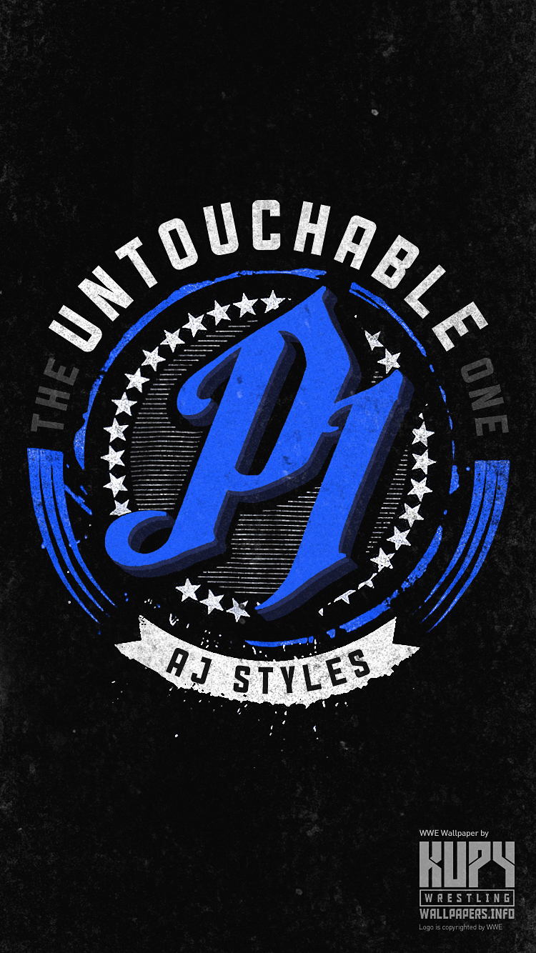 New Aj Styles The Untouchable One Iphone Android Wallpaper