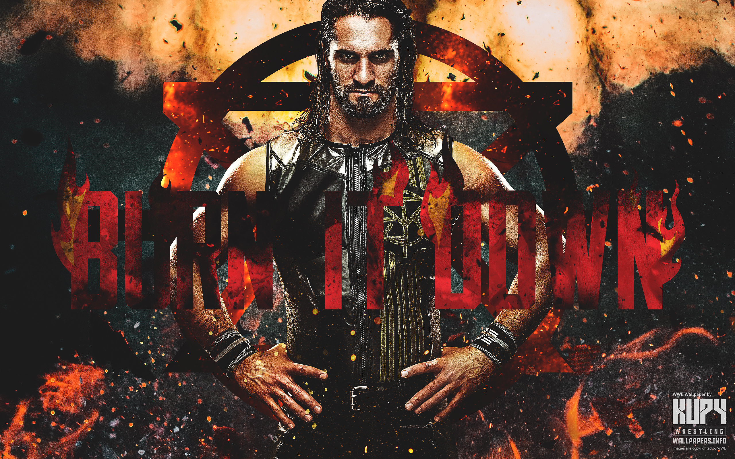 "new ""burn it down"" seth rollins wallpaper! - kupy wrestling"
