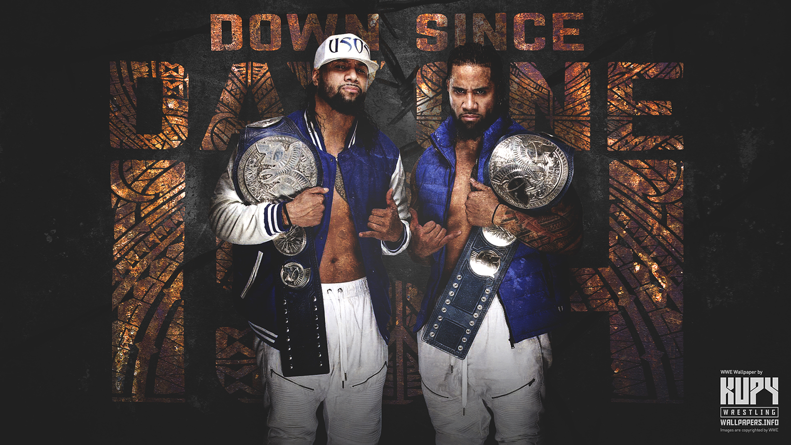 New The Usos Down Since Day One Ish Wallpaper Kupy Wrestling