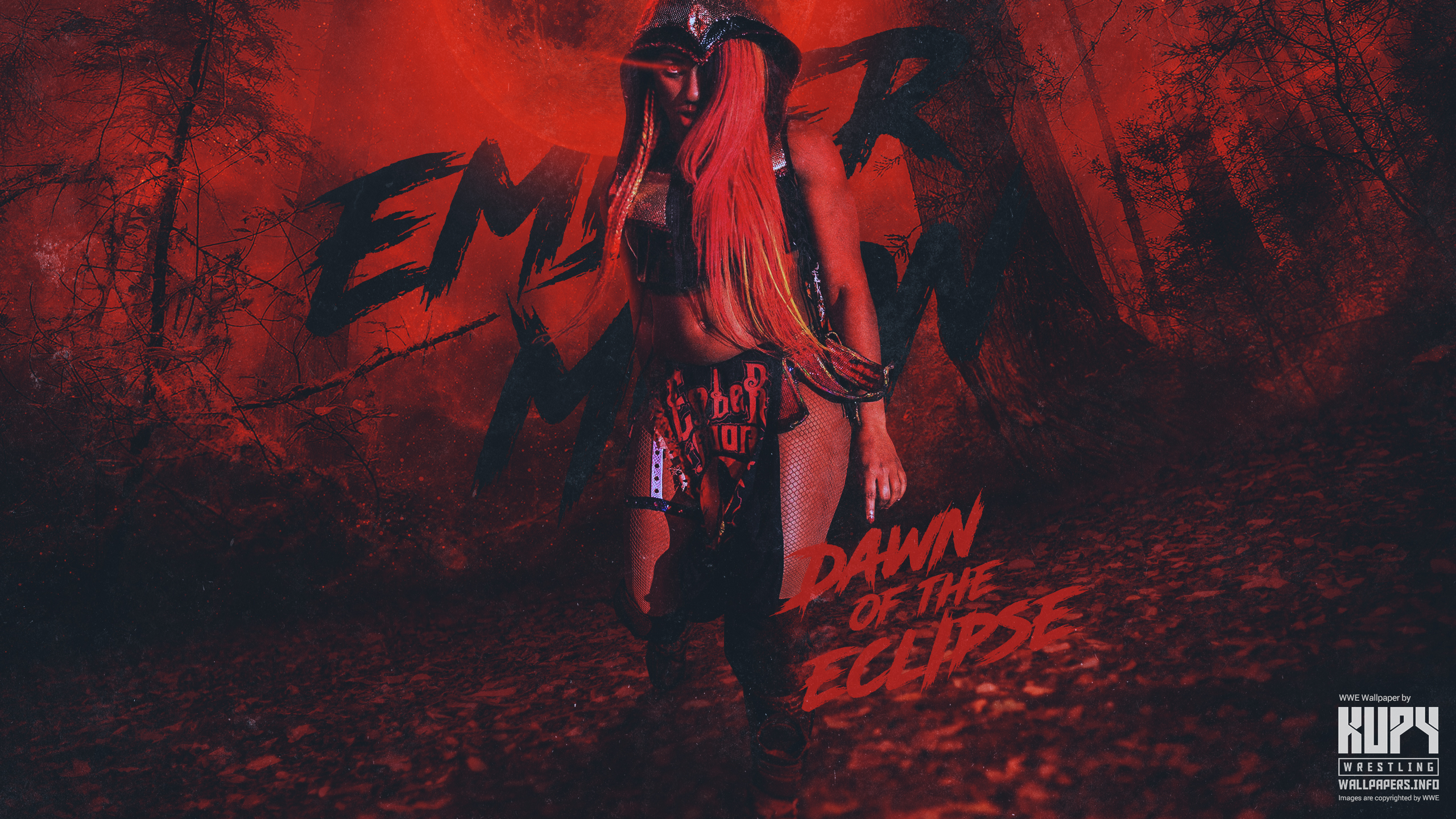 Dawn Of The Eclipse Ember Moon Wallpaper Kupy Wrestling