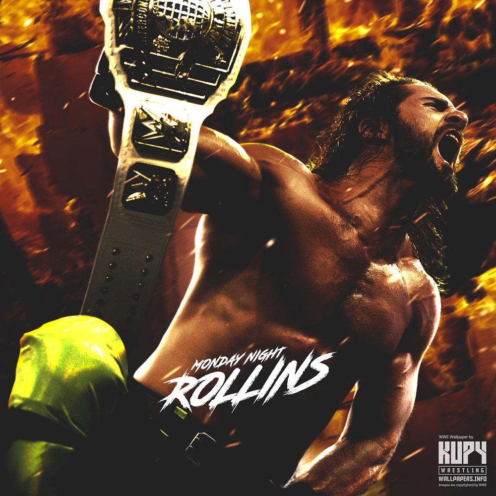 Seth Monday Night Rollins Intercontinental Champion Wallpaper