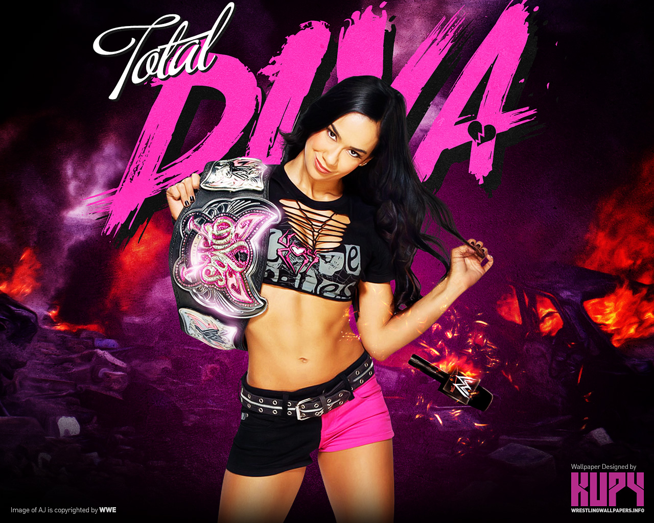 New Aj Divas Champion Wallpaper