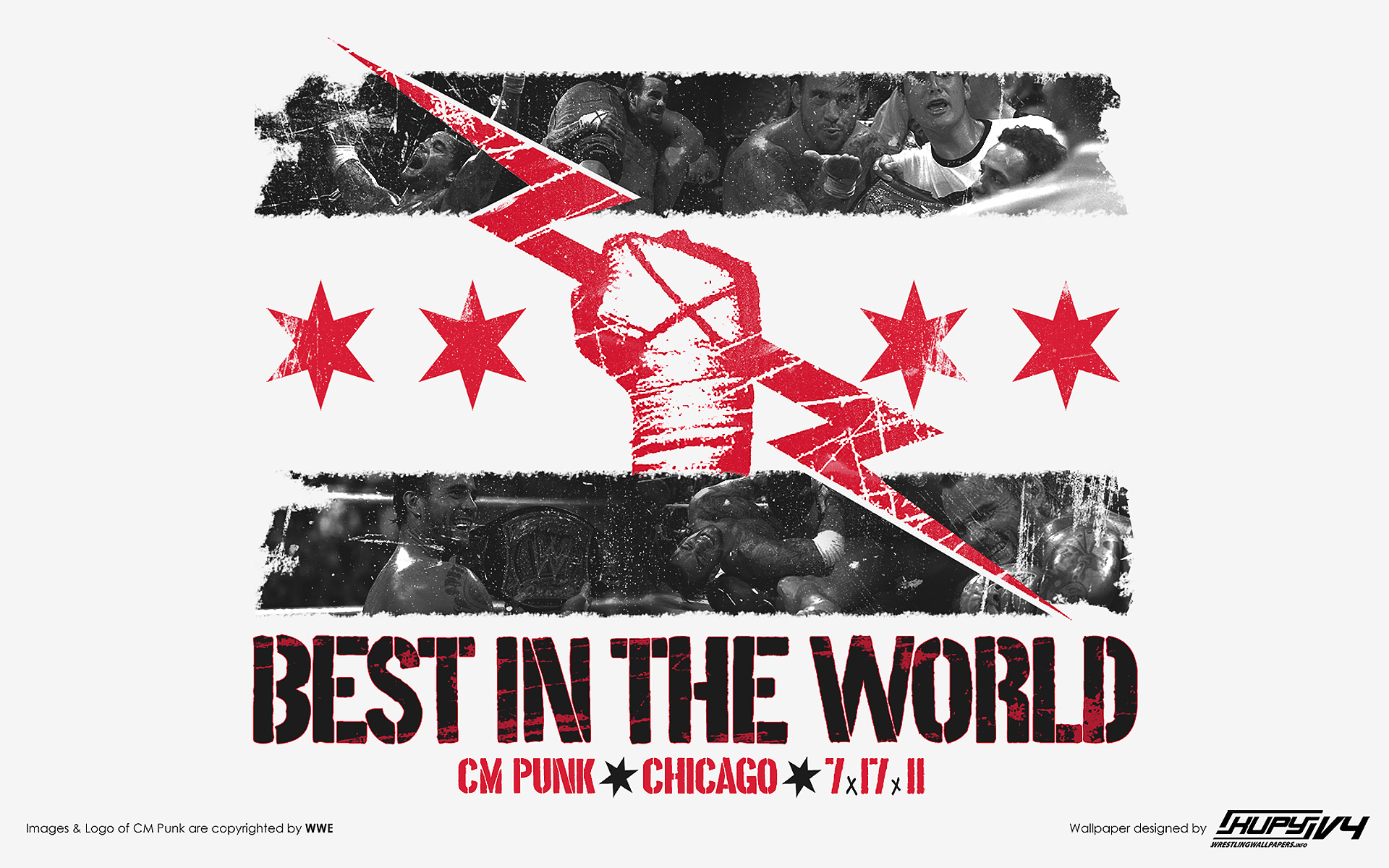 Cm punk fist shirt