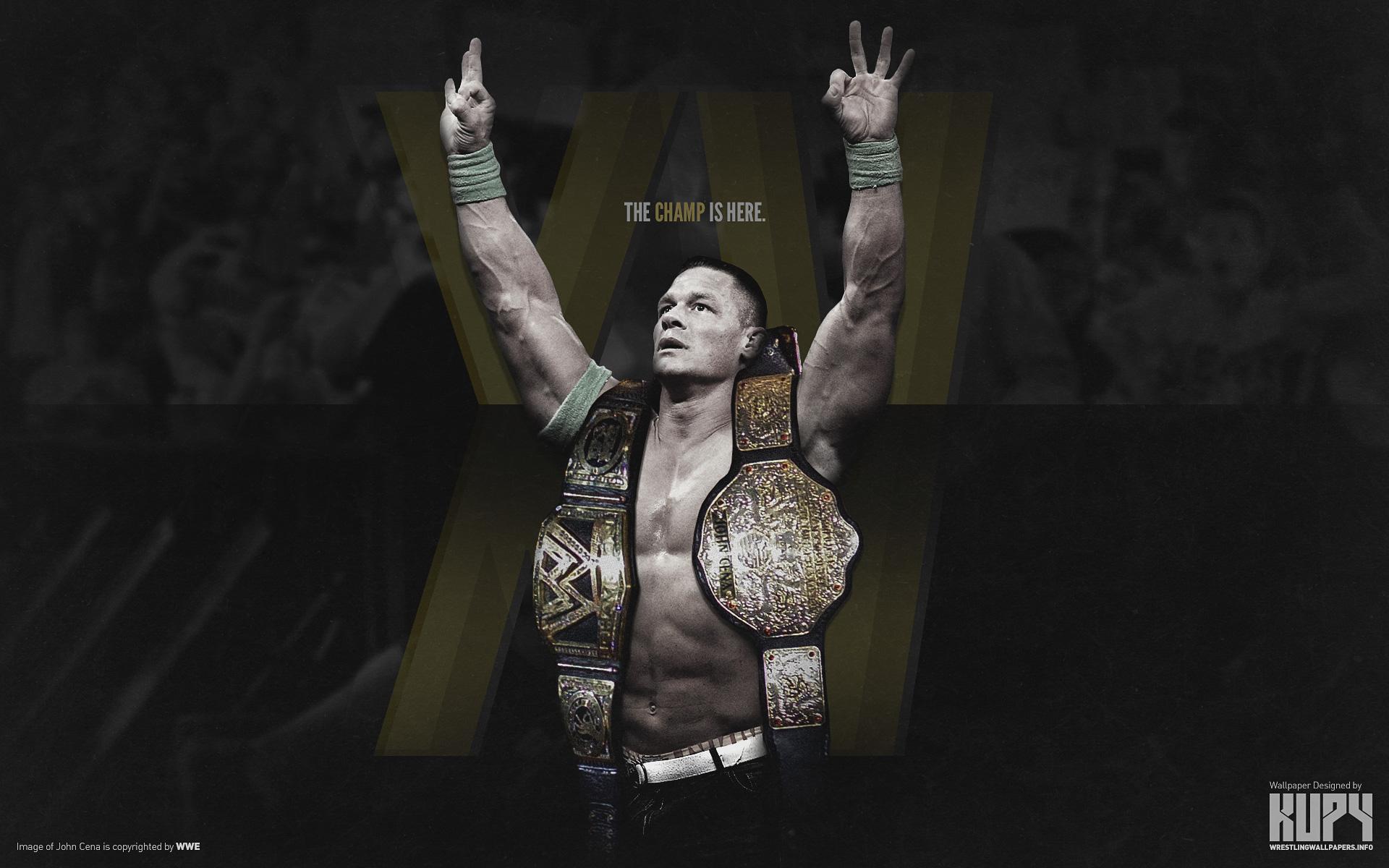 New John Cena 15 Time World Champion Wallpaper Kupy Wrestling
