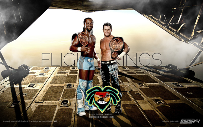 Evan Bourne & Kofi Kingston wallpaper