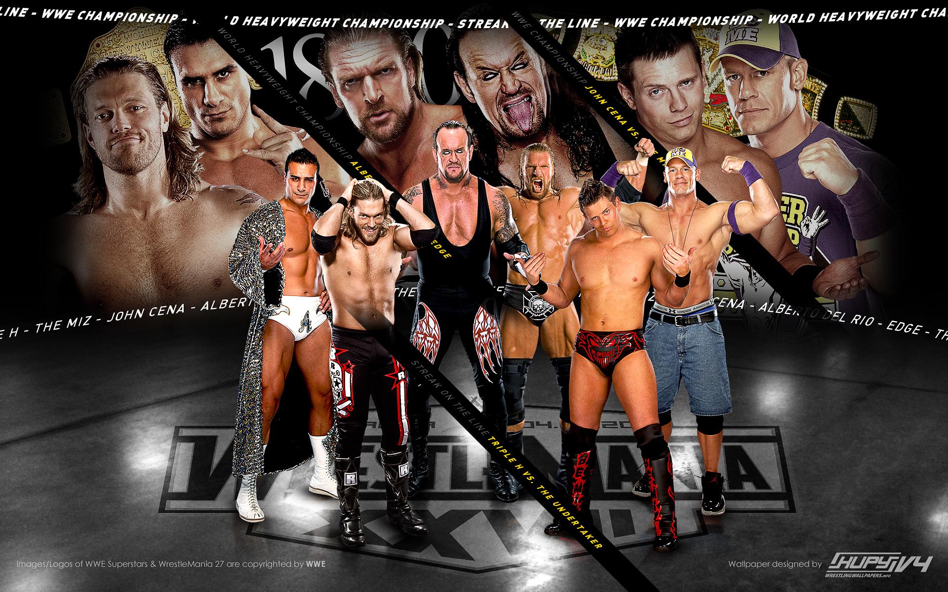 Road To Wrestlemania 27 Triple Main Event Wallpaper Kupy