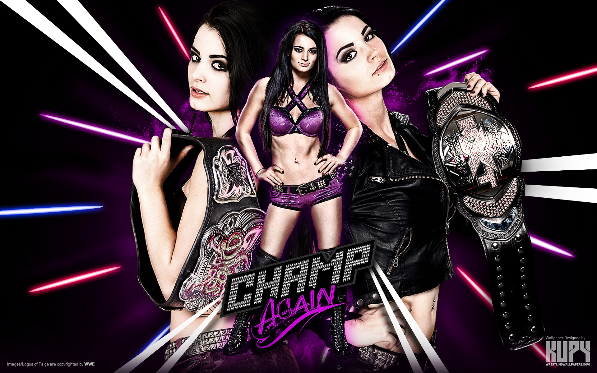 Double Champion WWE Divas NXT Womens Paige Wallpaper 1920x1200