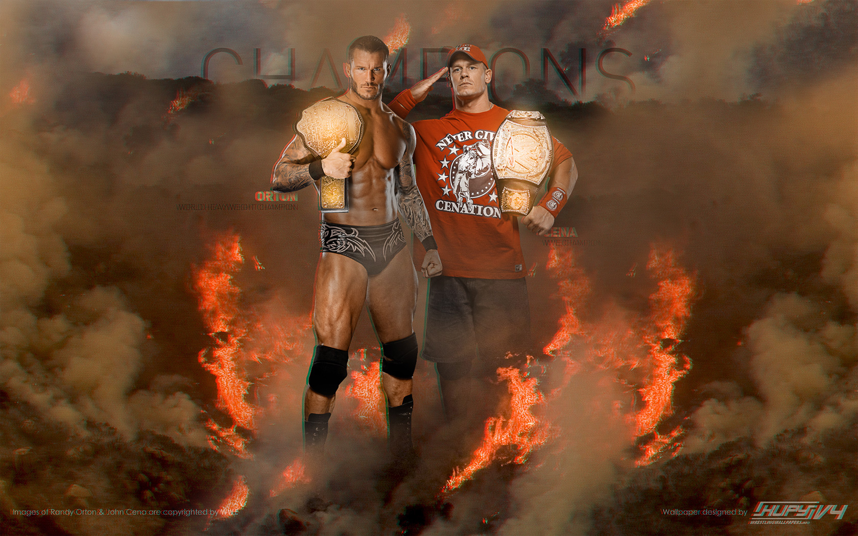 Randy Orton defender  225  su t  237 tulo mundial peso pesado y que John Cena    Wwe John Cena And Randy Orton