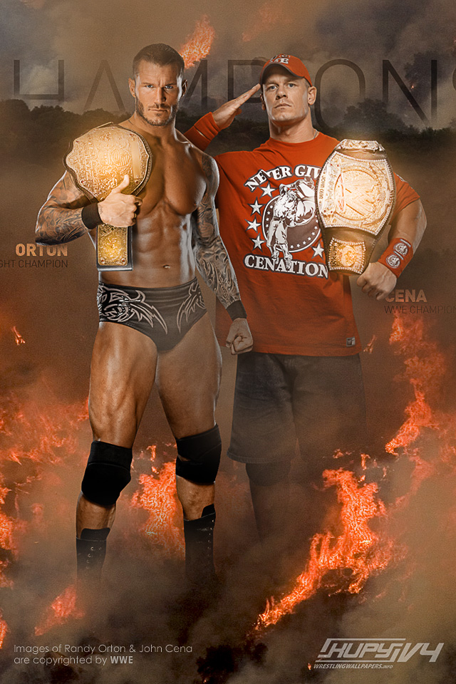 Wwe 2012 Randy Orton vs John Cena Randy Orton And John Cena as