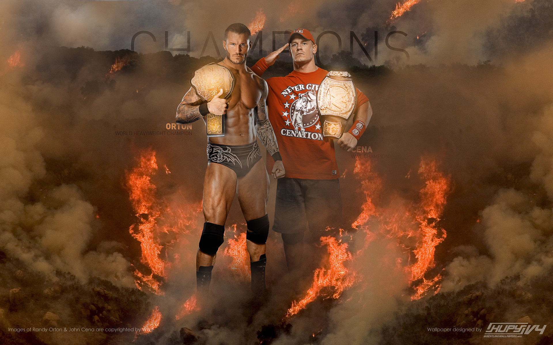John Cena As Champions Wallpaper 1920x1200