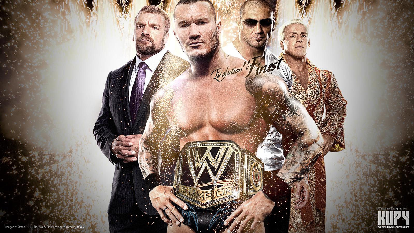 "Evolution's Finest"" WWE Champion Randy Orton wallpaper"