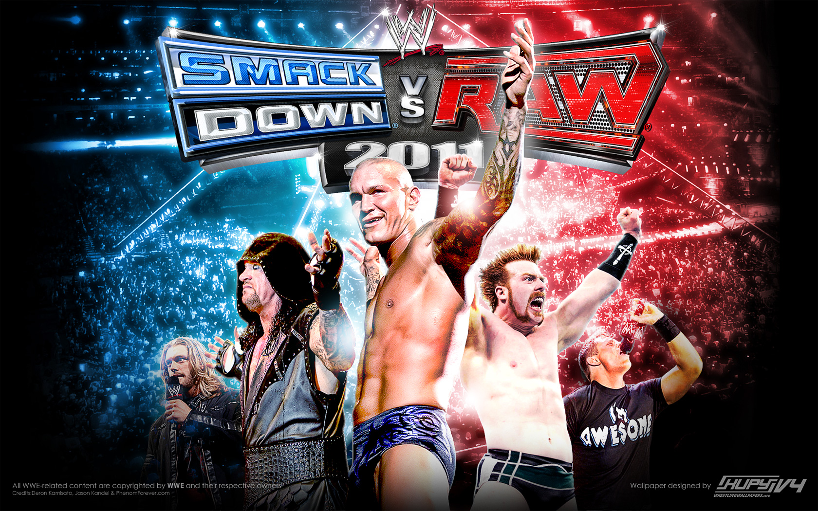 NEW WWE SmackDown Vs Raw 2011 Wallpaper