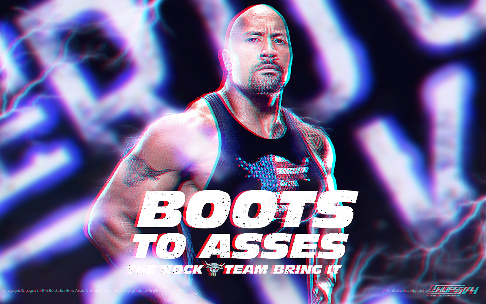 NEW The Rock Boots To Asses Wallpaper