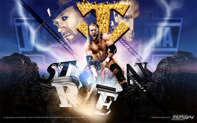 wrestlemania 27 undertaker hhh wallpaper