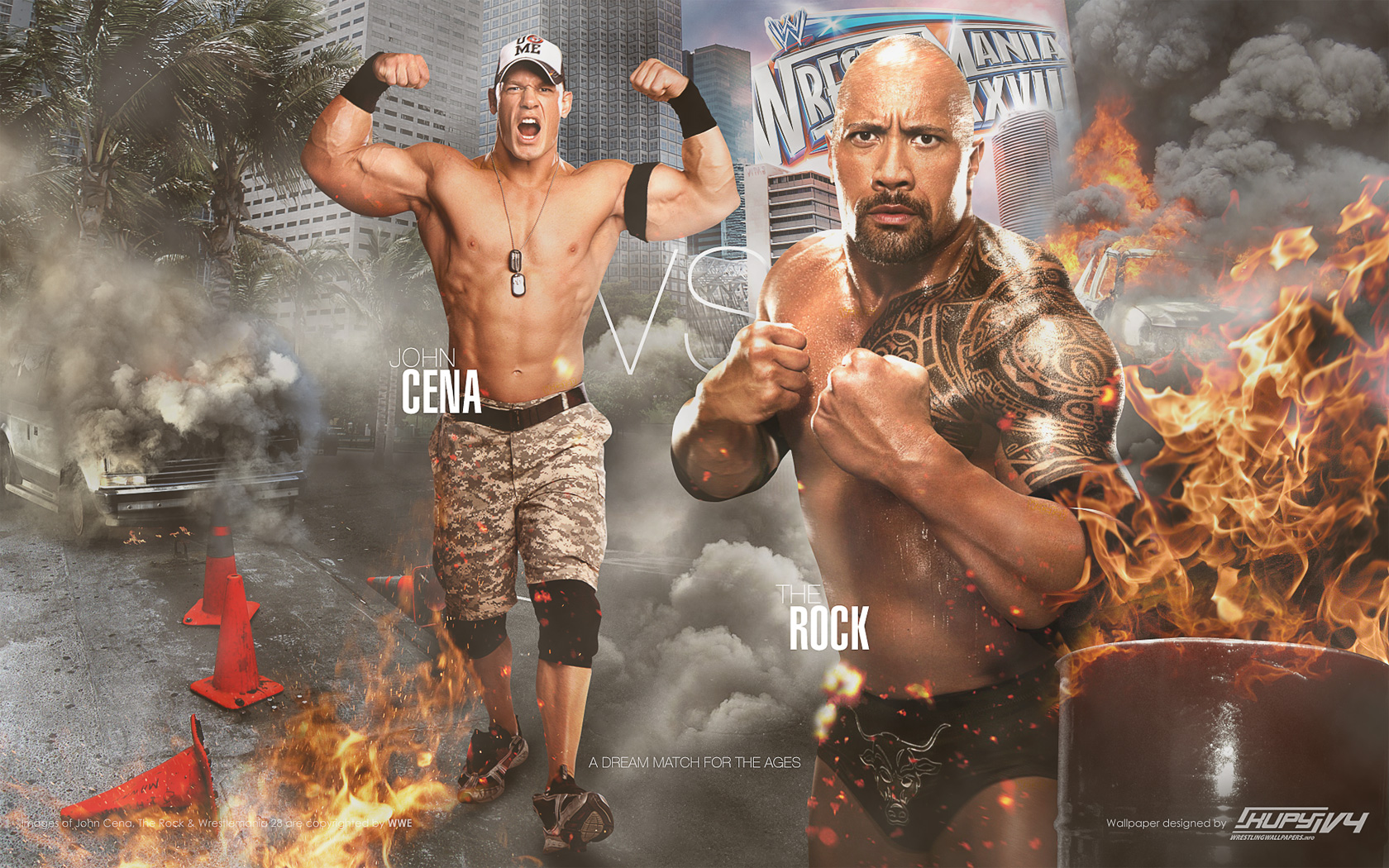 "download the new ""the rock vs john cena"" wallpaper ~ wwe video rocker"