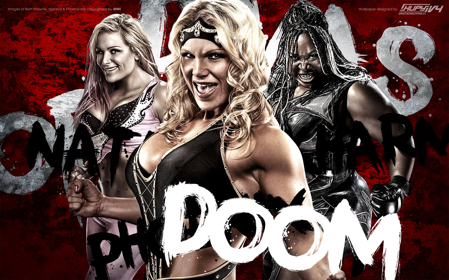 Beth phoenix natalya neidhart kharma divas of doom - Wwe divas wallpapers ...