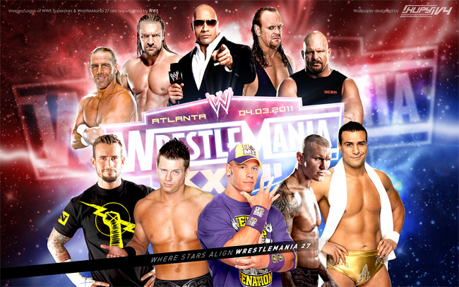 wrestlemania 27 wwe superstars wallpaper