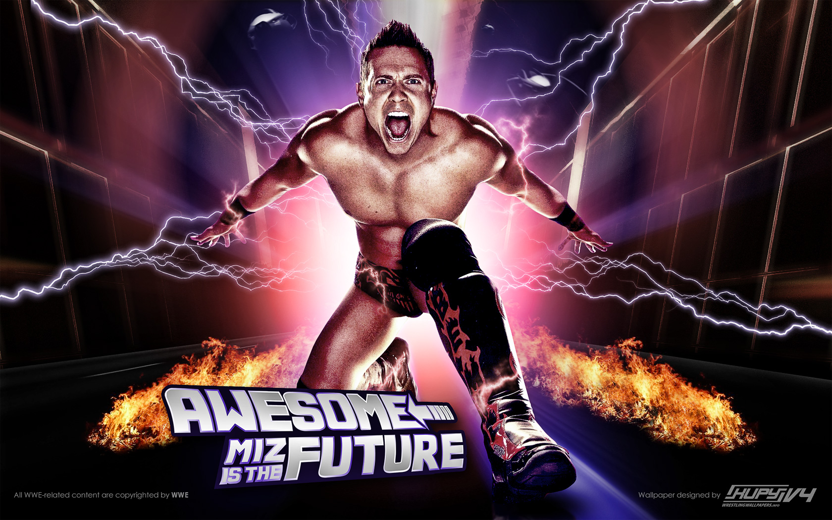 Kupy Wrestling Wallpapers The Latest Source For Your Wwe Wrestling Wallpaper Needs Mobile Hd And 4k Resolutions Available Blog Archive New The Miz Is The Future Wallpaper Kupy Wrestling